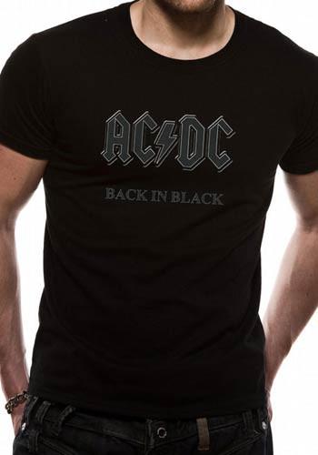 ac27e4d6a AC/DC Back In Black Official Unisex T-Shirt. Buy AC/DC T-shirts Now ...