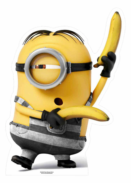 Prisoner Minion with Bananas Mini Cardboard Cutout / Standee / Stand up - Buy standups ...