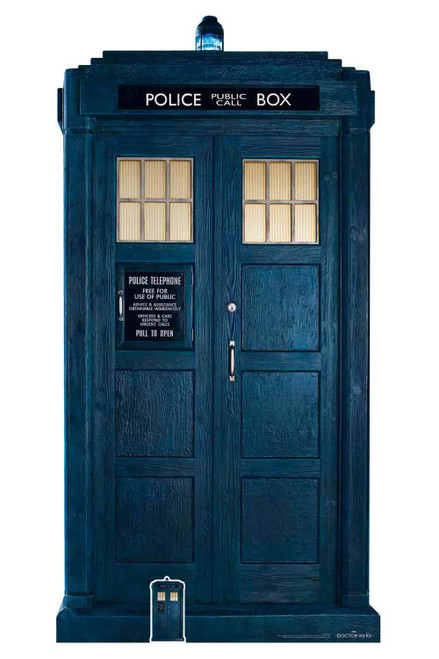 The Tardis From The 13th Doctor Who Official Cardboard Cutout