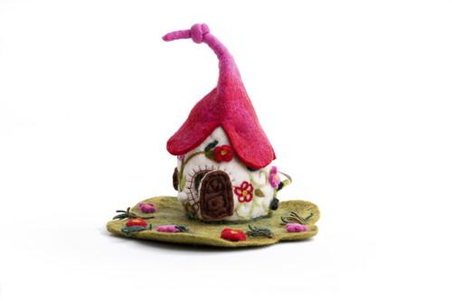 Felt Fairy - fairy houses