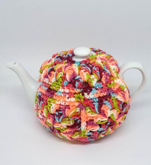 Donna Matthews - Crochet teapot Cosy - bright