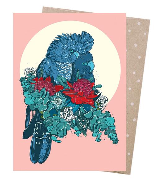 Earth Greetings - Cards - Cuddling Cockatoos