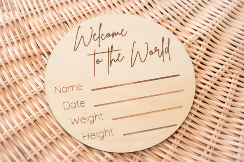 The Woods Series - Birth Announcement - Welcome to the world