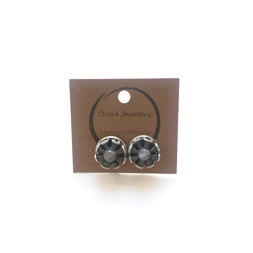 Chirara Jewellery - Nespresso Coffee Pod studs - CJ013 - White/Green