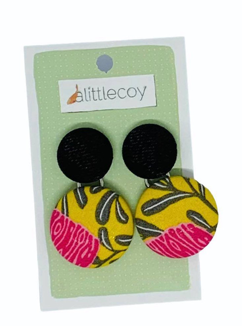 ALittleCoy - Seeing Double Fabric covered earrings