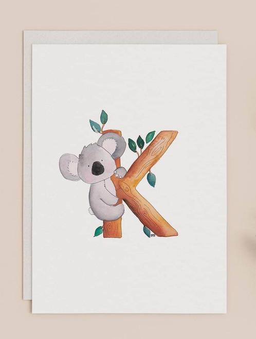 SF Creative - Greeting Cards - K is for Koala