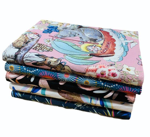 Three Little Rams - Fabric notebook covers