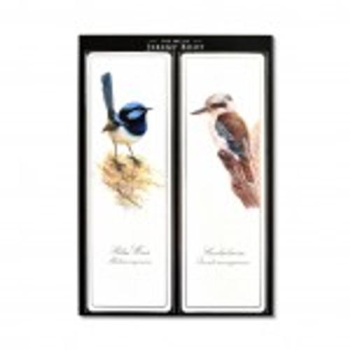 The Art of Jeremy Boot - Bookmark Pair - Wren/Kookaburra
