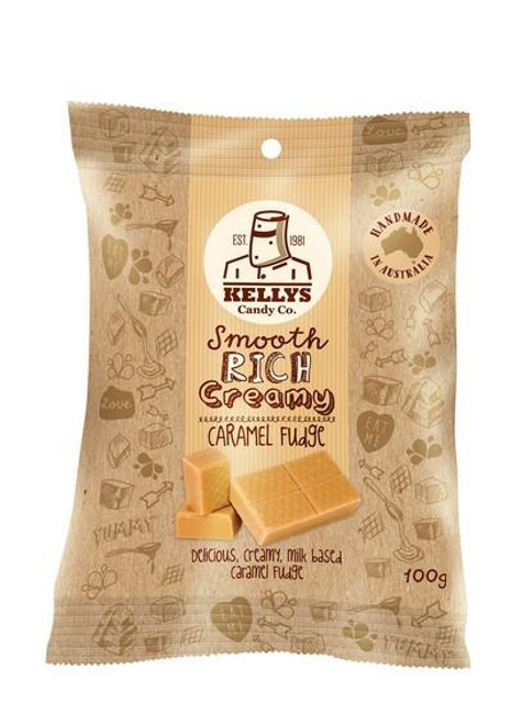 Kellys Candy Co - Snack Pack - Caramel Fudge - 100gm