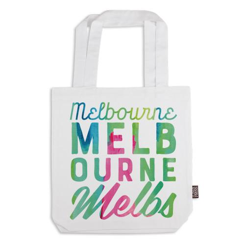 The Linen Press - Tote Bag - Melbourne - White