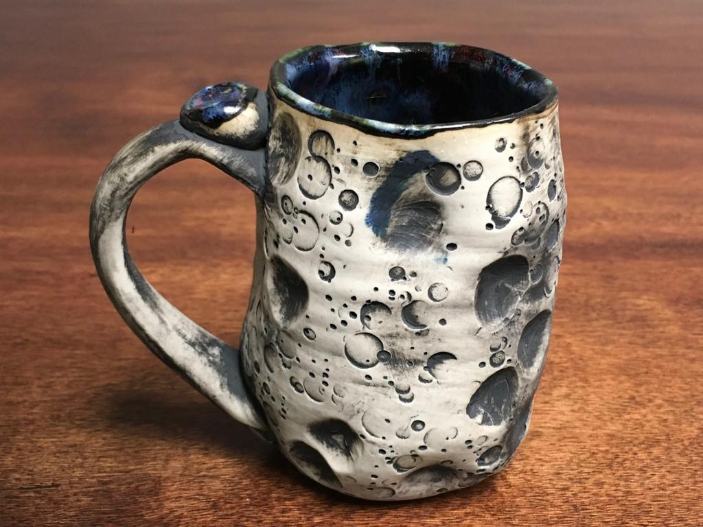 "Lunar/Moon Mug, roughly 15-16 ounces, Inspired by 'Planetary Nebula""  (SK1291)"