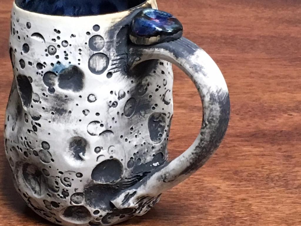 "Lunar/Moon Mug, roughly 11-13 ounces, Inspired by 'Planetary Nebula""  (SK1347)"