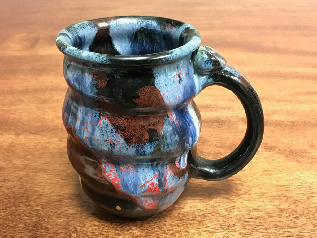 Cosmic Mug, roughly 16-18oz size, Inspired by a Planetary Nebula (SK1456)