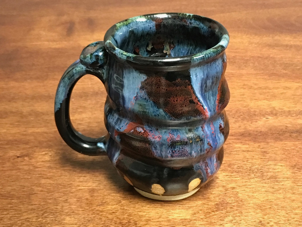Flawed/Discounted Cosmic Mug, roughly 14-16oz size, Inspired by a Planetary Nebula (SK2477)