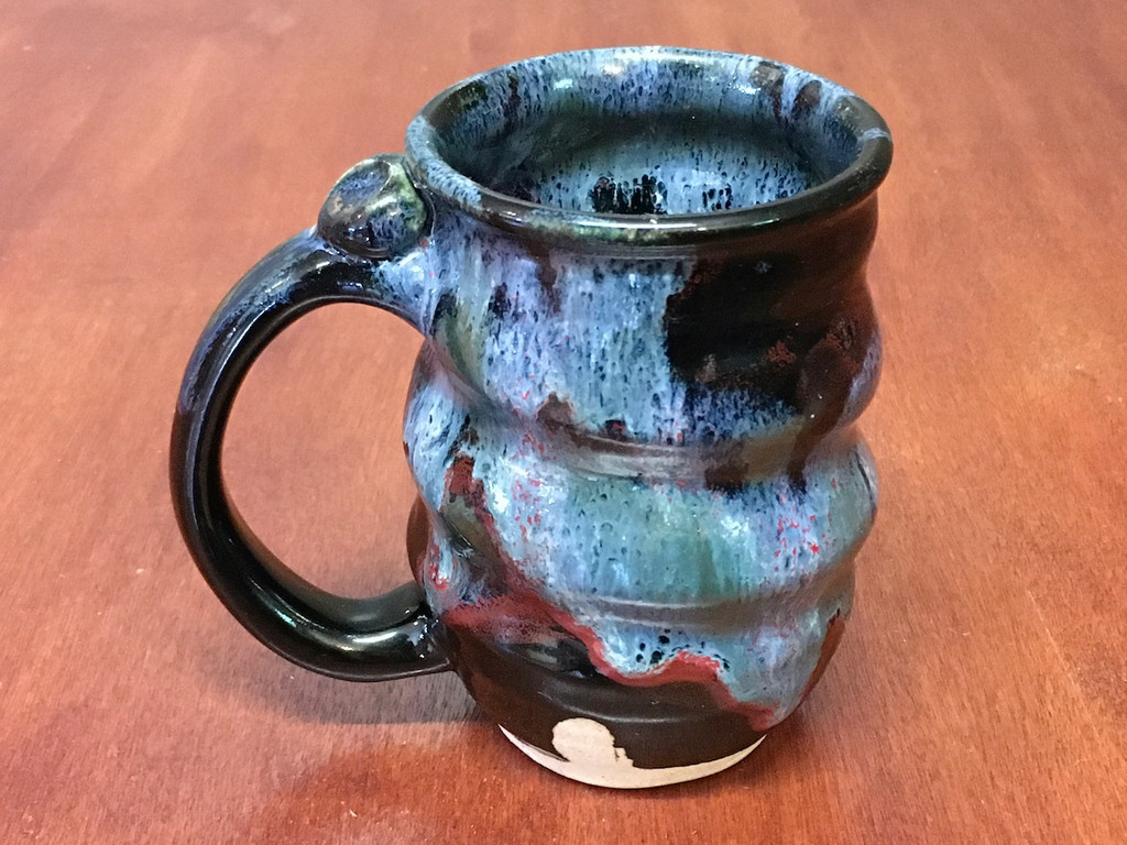 Spiral Cosmic Mug, roughly 14-16oz size, Inspired by a Star-Formation Nebula (SK4235)