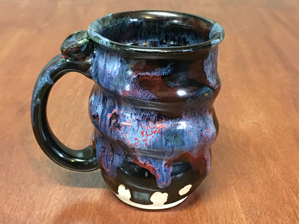 Spiral Cosmic Mug, roughly 12-14oz size, Inspired by a Planetary Nebula (SK4582)