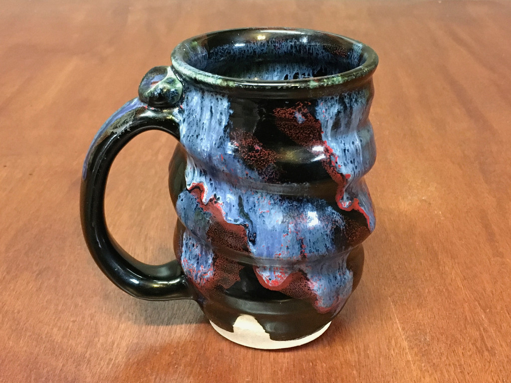 Spiral Cosmic Mug, roughly 12-14oz size, Inspired by a Planetary Nebula (SK4584)