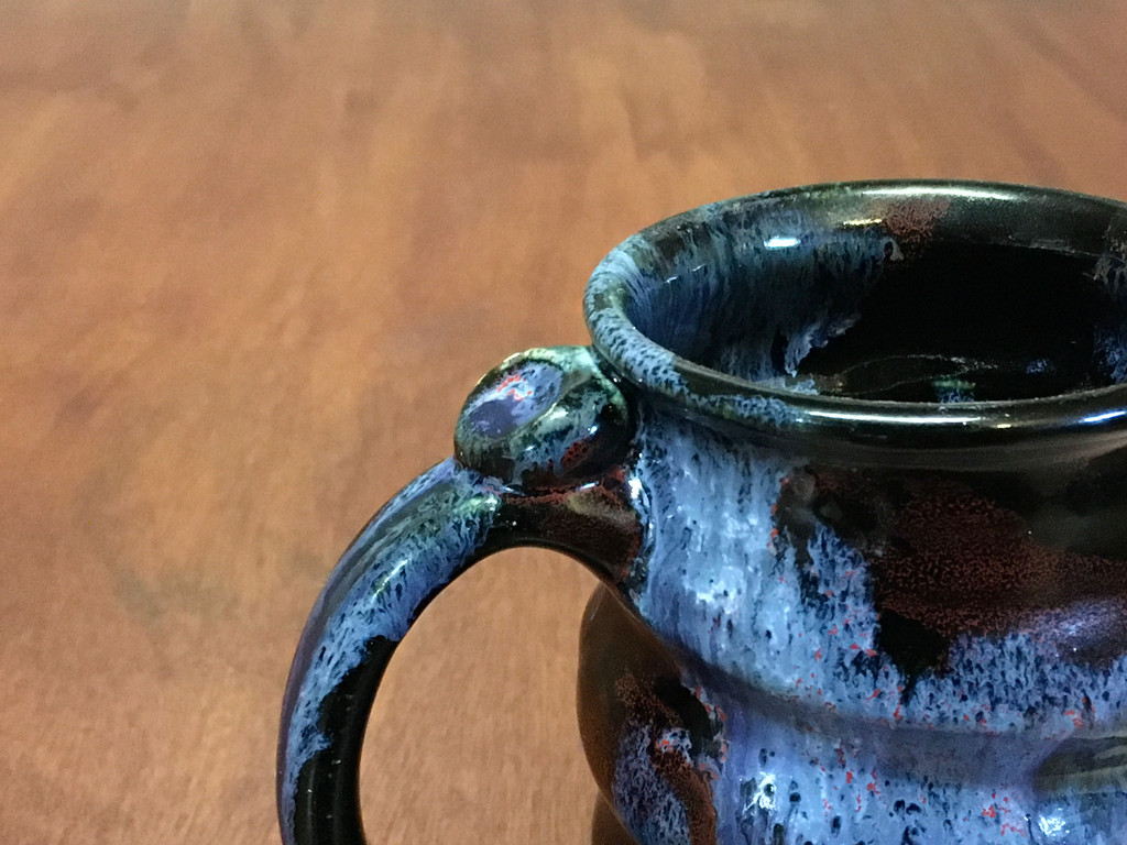 Flawed Cosmic Mug, roughly 12-14oz size, Inspired by a Planetary Nebula (SK4599)