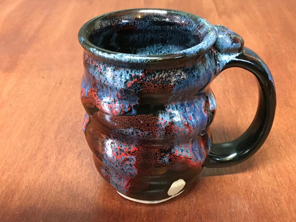 Spiral Cosmic Mug, roughly 10-12oz size, Inspired by a Planetary Nebula (SK4882)