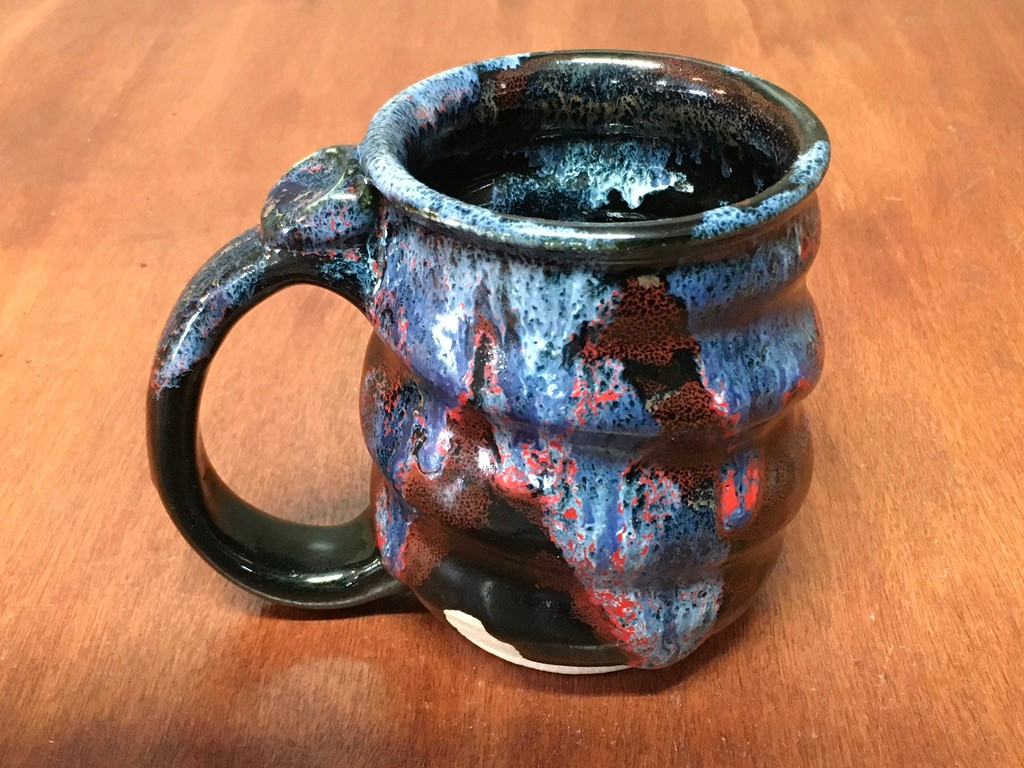 Spiral Cosmic Mug, roughly 10-12oz size, Inspired by a Planetary Nebula (SK4884)