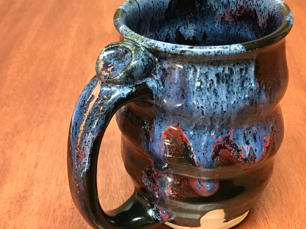 Cosmic Mug, roughly 12-14oz size, Inspired by a Planetary Nebula (SK5728)