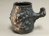 Meteorite Mug, 12-13 ounce size, Inspired by the Willamette Meteorite in the American Museum of Natural History (SP147)
