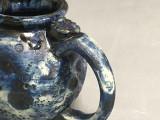 Blue Moon Mug with a Blue Nebula Interior and exterior Drip, roughly 14-15oz size, (SK743)