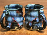 Set of 2 Cosmic Mugs, roughly 14-16oz size, Inspired by a Planetary Nebula (SK839)