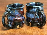 Set of 2 Cosmic Mugs, roughly 14-16oz size, Inspired by a Planetary Nebula (SK841)