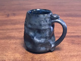 Meteor Mug with a Blue Nebula Interior, roughly 12-14 ounce size, (SK843)