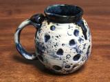 Blue Moon Mug with a Blue Nebula Interior, roughly 16-18oz size, (SK1333)