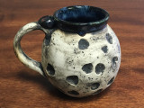 Moon Mug with a Blue Nebula Interior, roughly 14-16oz size, (SK1399)