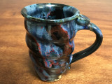 Tall Cosmic Mug, roughly 16-18oz size, Inspired by a Planetary Nebula (SK1860)