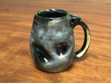 Small Unique Meteor Mug with a Blue Nebula Interior, roughly 10-12 ounce size, (SK1919)