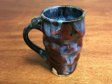 Narrow Cosmic Mug, roughly 14-16 oz size, Inspired by a Planetary Nebula (SK2258)