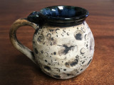 """Harvest Moon Mug"" with a Blue Nebula Interior, roughly 12-14oz size, (SK3090)"