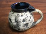"""Moon Mug"" with a Blue Nebula Interior, roughly 14-16oz size, (SK3131)"