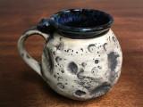 """Moon Mug"" with a Blue Nebula Interior, roughly 14-16oz size, (SK3192)"