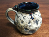 """Moon Mug"" with a Blue Nebula Interior, roughly 14-16oz size, (SK3194)"