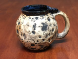 """Moon Mug"" with a Blue Nebula Interior, roughly 16-18oz size, (SK3872)"