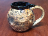 """Harvest Moon Mug"" with a Blue Nebula Interior, roughly 14-16oz size, (SK3927)"