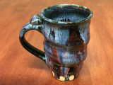 Tapered Cosmic Mug, roughly 16-18oz size, Inspired by a Planetary Nebula (SK3983)