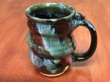 Discounted Spiral Cosmic Mug, roughly 14-16oz size, Inspired by a Star-Formation Nebula (SK3990)