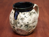 """PATRONS ONLY: """"Moon Mug"""" with a Nebula Interior, roughly 16oz size, (SK4079)"""