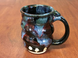 Spiral Cosmic Mug, roughly 12-14oz size, Inspired by a Star-Formation Nebula (SK4589)