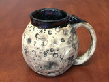 """PATRONS ONLY: """"Moon Mug"""" with a Blue Nebula Interior, roughly 13-15oz size, (SK4849)"""