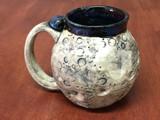 """Moon Mug"" with a Blue Nebula Interior, roughly 12-14oz size, (SK4911)"
