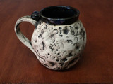 """PATRONS ONLY: """"Moon Mug"""" with a Blue Nebula Interior, roughly 14-16oz size, (SK5081)"""