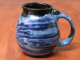 PATRONS ONLY: Neptune Mug with a Blue Nebula Interior, roughly 16-18oz size, (SK5101)