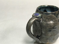Meteor Mug with a Blue Nebula Interior, roughly 12-14 ounce size, (SK325)